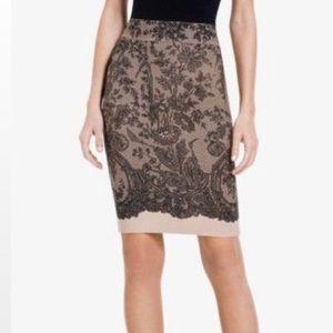 🔥 BCBG Scarlett Lace-Print Pencil Skirt 🔥